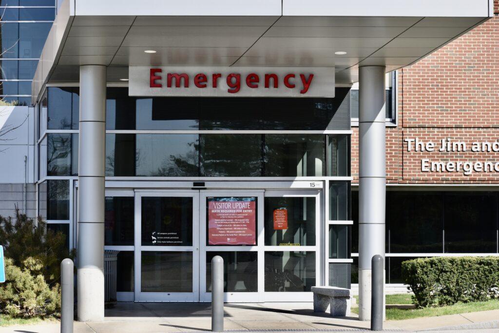 Exterior of Concord Hospital ER