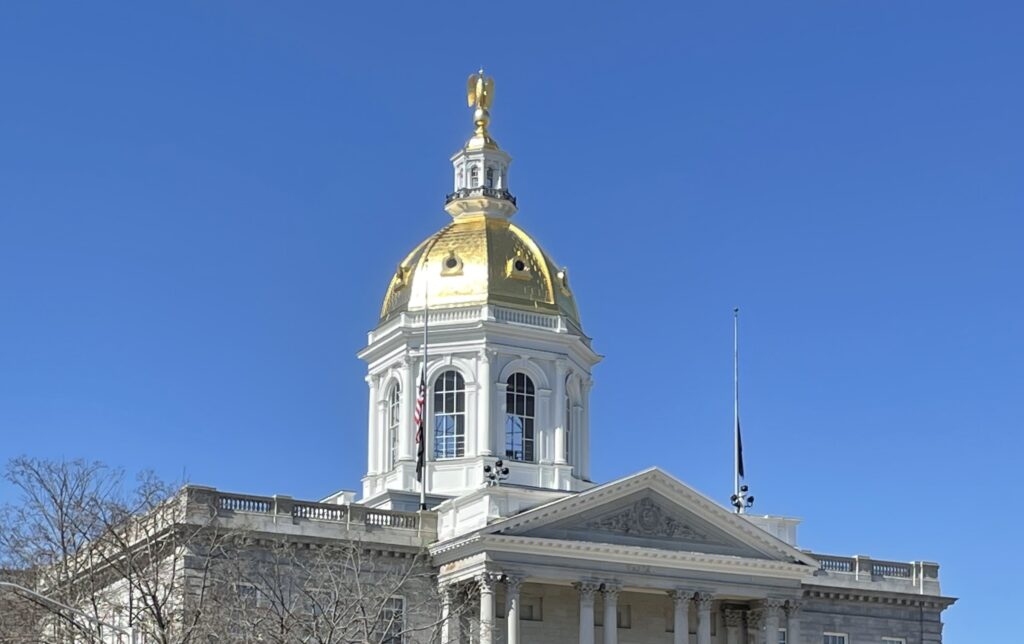 The New Hampshire State House dome