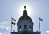 State House dome blocks out the sun