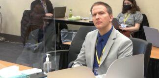 Derek Chauvin during trial