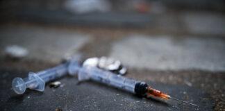 Needles on the pavement