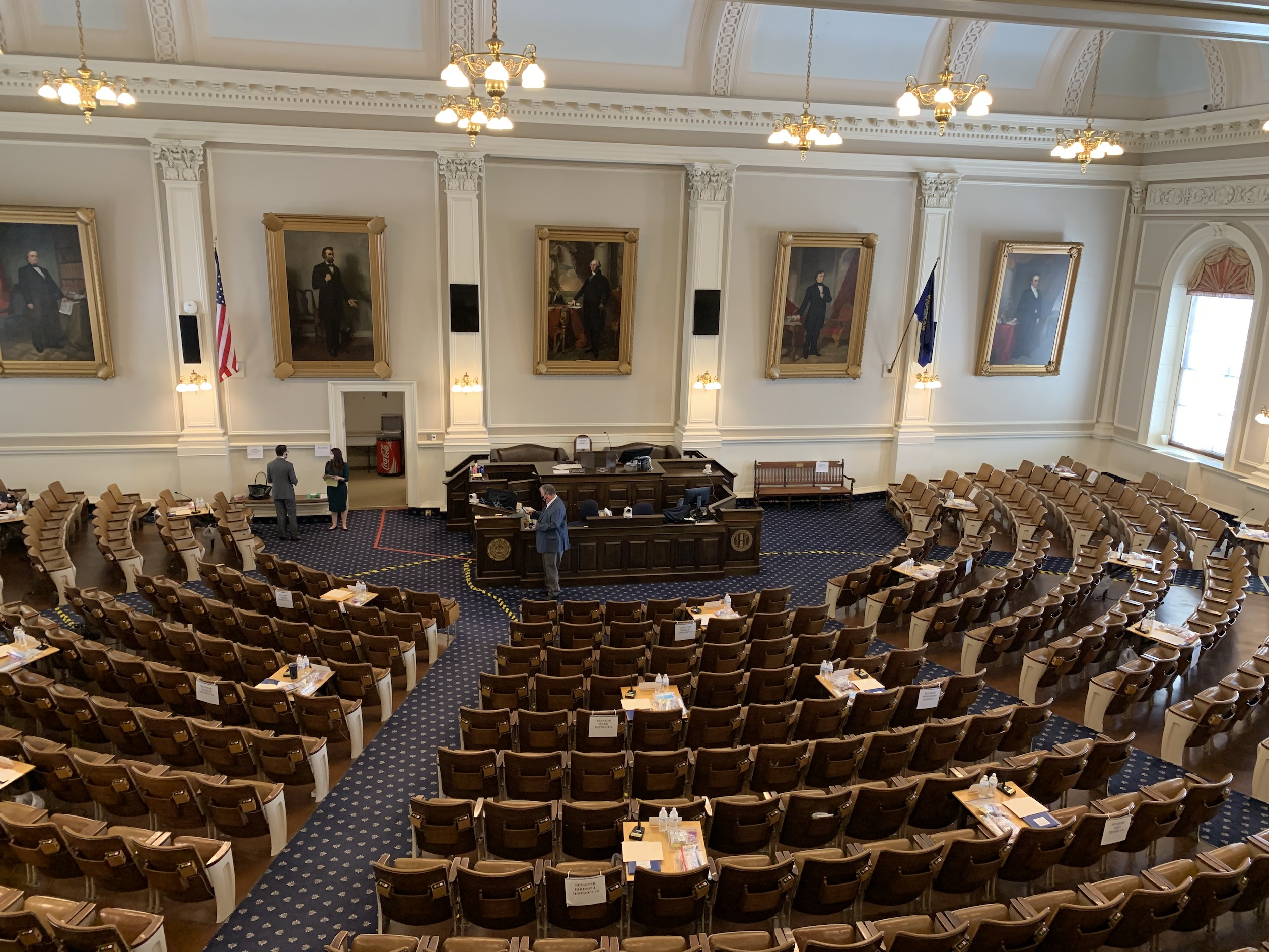 A view of the NH Senate chamber