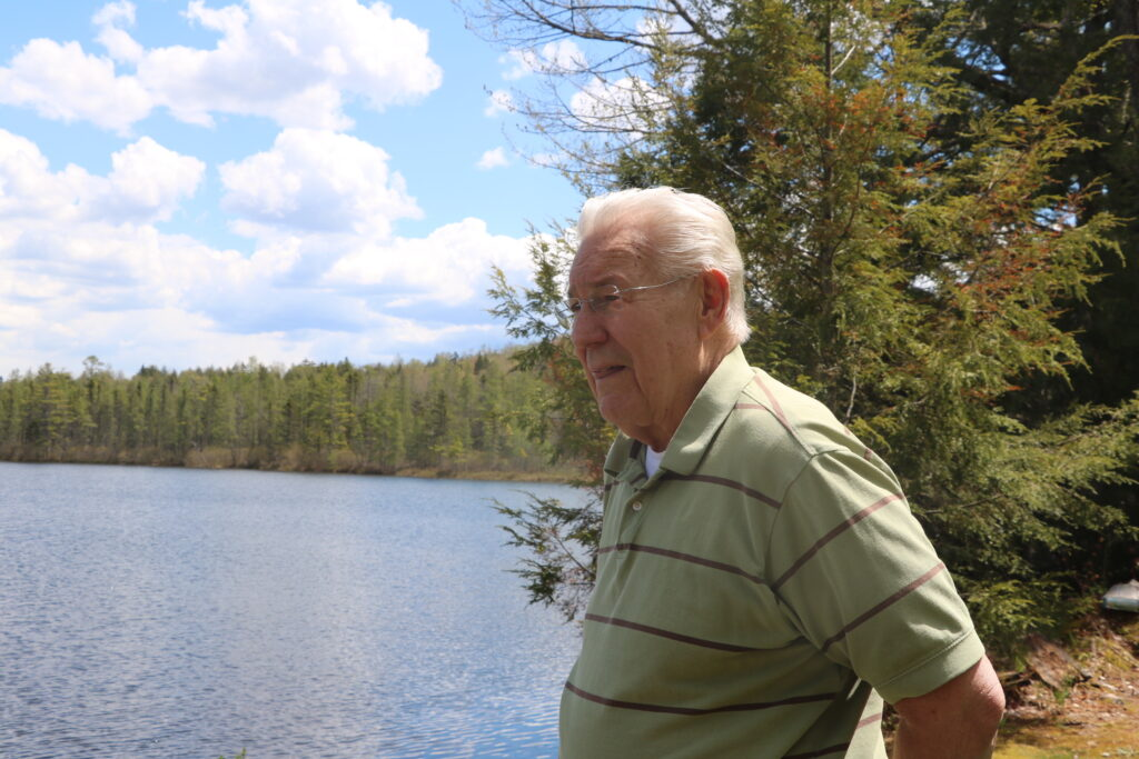 Fred Anderson looks out at Forest Lake