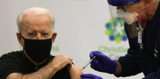 President Biden receives a second dose of the vaccine