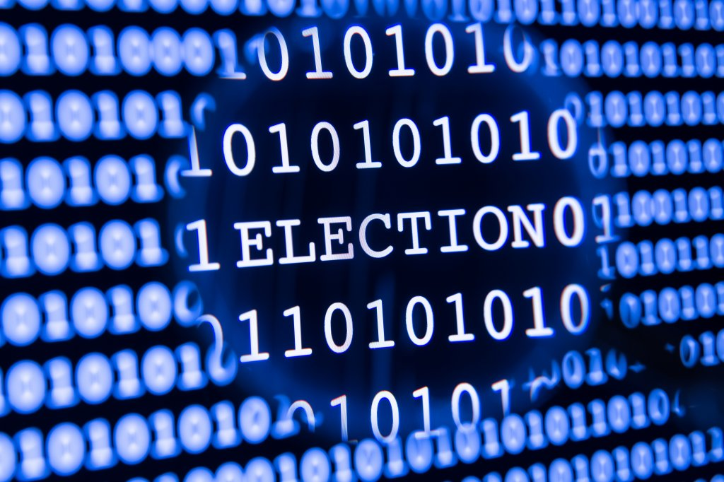 The word election on a computer screen