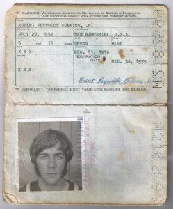 Renny Cushing's first passport