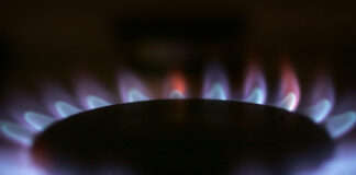 A ring of natural gas flame