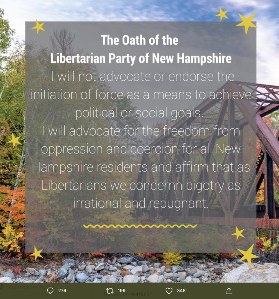 A screen shot from the state Libertarian website