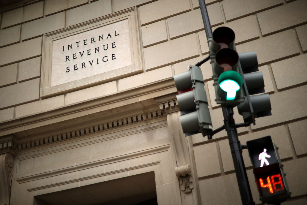 Exterior of the IRS building in Washington