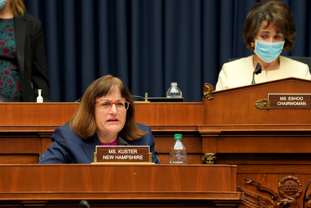 Rep. Annie Kuster sits during a congressional hearing