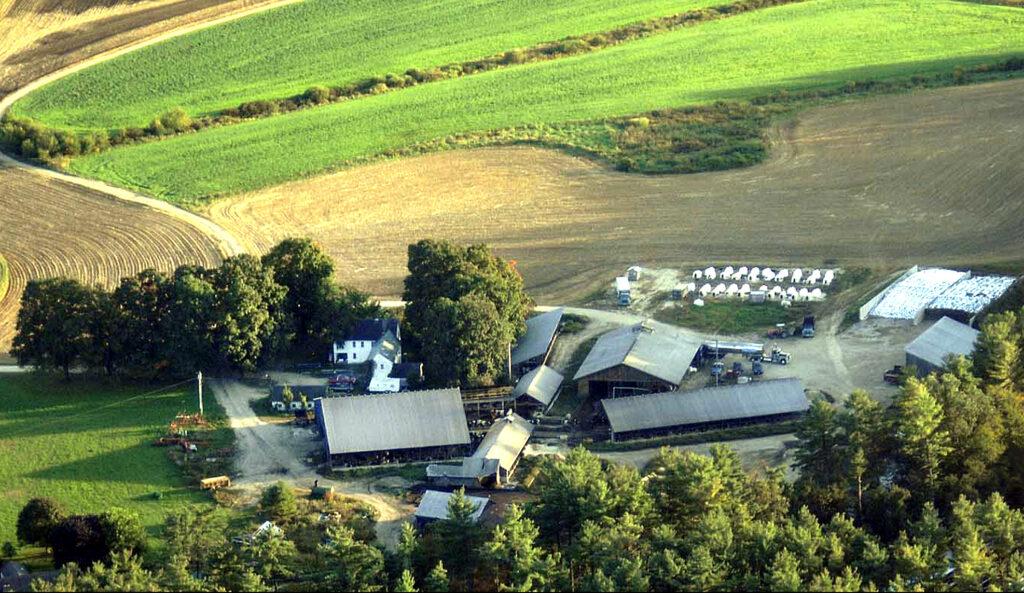 An aerial view of Bohanan Farm in Hopkinton