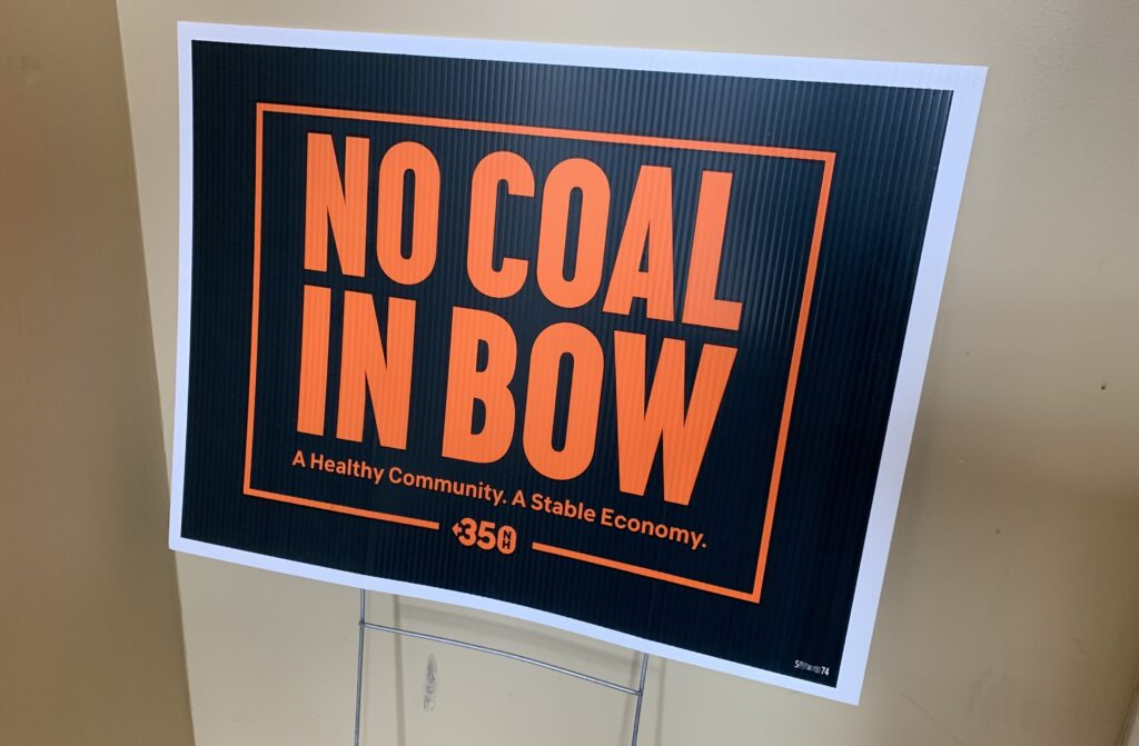 """A sign saying """"No coal in Bow"""""""