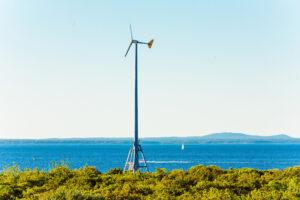 A wind turbine on Appledore Island