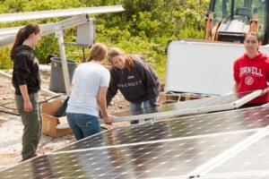 Solar panels are installed on Appledore Island