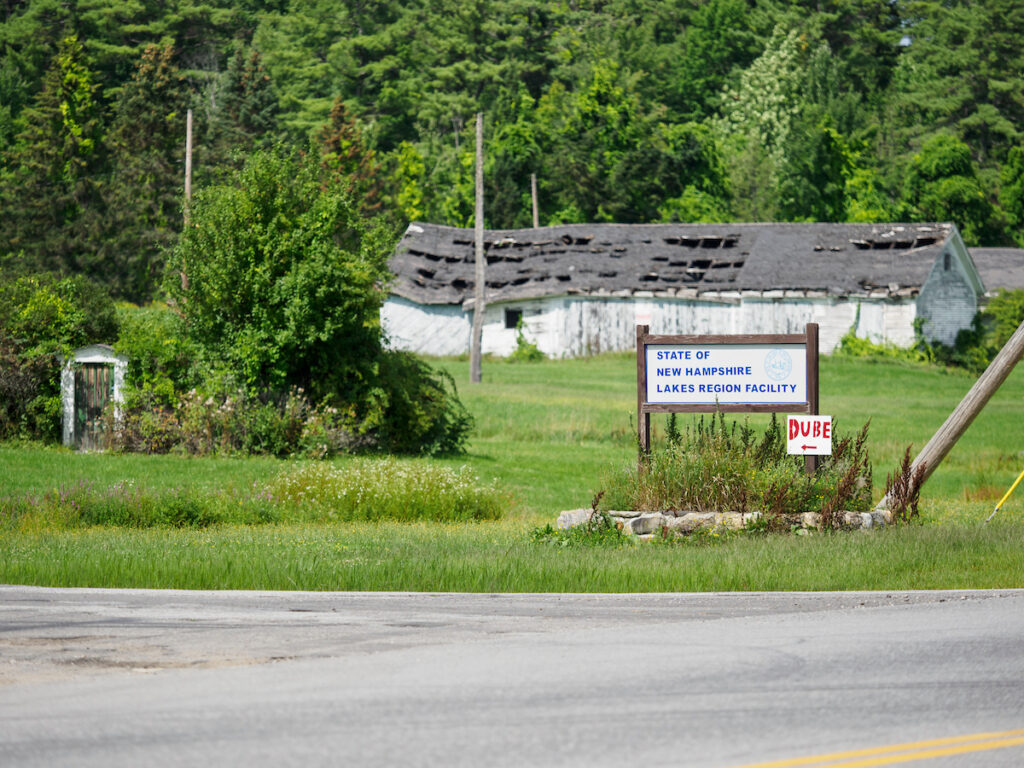 Sign for the former Lakes Region Facility