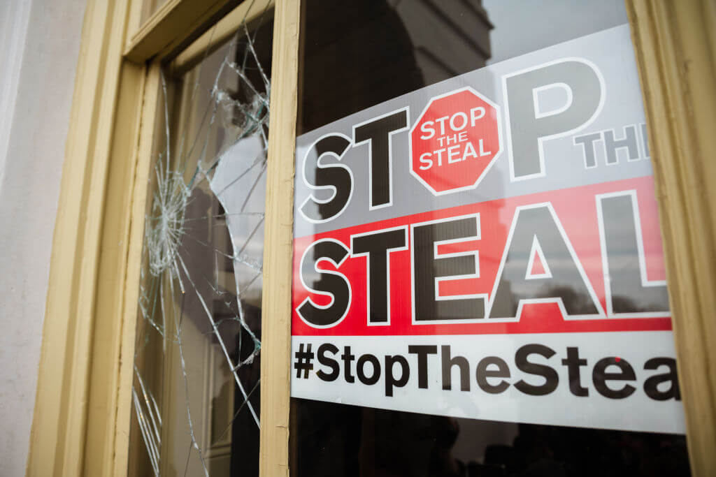 """A """"Stop the Steal"""" sign"""